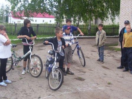 Конкурс на велосипедах